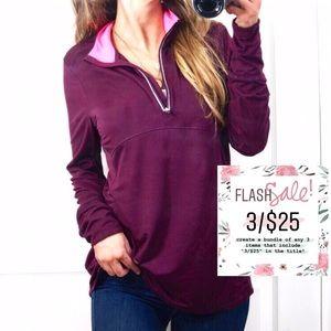 3/$25 Athleisure 1/2 Zip-Up Mesh Pullover Jacket L